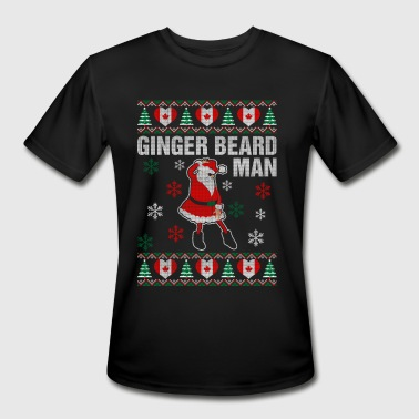 Canadian Hipster Ginger Beard Canadian Man - Men's Moisture Wicking Performance T-Shirt