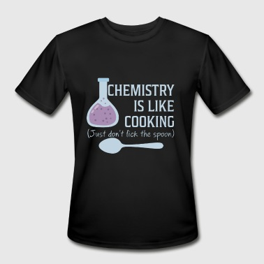 Computer Forensics Jokes chemistry i like cooking just don't lick the spoon - Men's Moisture Wicking Performance T-Shirt