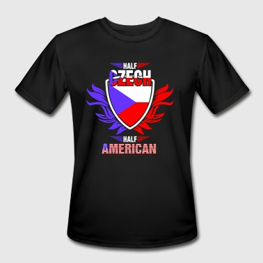Half Czech Half American - Men's Moisture Wicking Performance T-Shirt