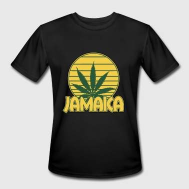 Jamaican Weed Jamaica Jamaican Weed Leaf Logo Nationality - Men's Moisture Wicking Performance T-Shirt