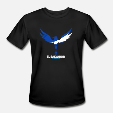 United Nations Symbol El Salvador T-Shirt National Bird- Blue/White - Men's Moisture Wicking Performance T-Shirt