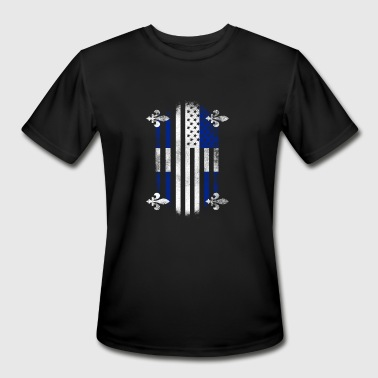 American And Canada Flag Quebecois American Flag Quebec Canada and USA Design - Men's Moisture Wicking Performance T-Shirt