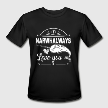 Funny Narwhals - Men's Moisture Wicking Performance T-Shirt