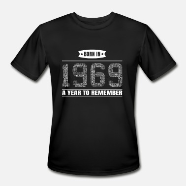 Birth Year 1969 1969 Birth Year Events | Gift for 50th Birthday - Men's Moisture Wicking Performance T-Shirt