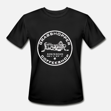 Marijuana Amsterdam Grasshopper Cafe Amsterdam Marijuana - Men's Moisture Wicking Performance T-Shirt