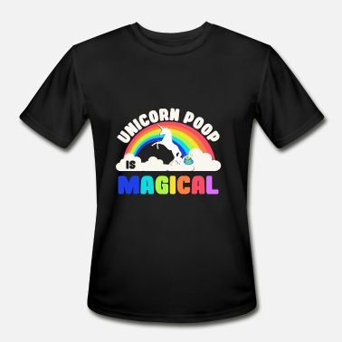 Pooping Unicorn Poop Is Magical - Men's Sport T-Shirt