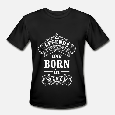 eaaa24dcf Brother Birthday Quotes Legends Are Born In March Birthday Gift T-Shirt -  Men&#