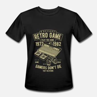 Retro Game Characters Retro Games - Men's Moisture Wicking Performance T-Shirt
