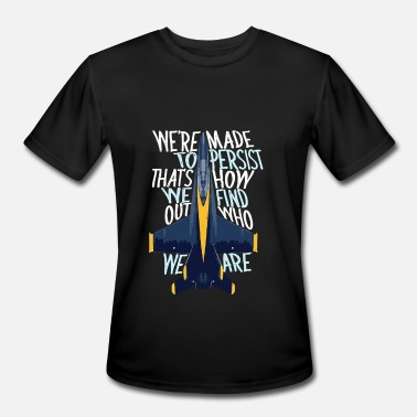 Blue Angel Persist Blue Angels Flying Pilot Planes - Men's Moisture Wicking Performance T-Shirt
