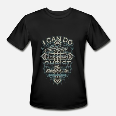 Christopher Walken Christ - Christ - i can do all things through ch - Men's Moisture Wicking Performance T-Shirt