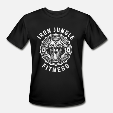 Iron Fit Iron Jungle Fitness - Men's Moisture Wicking Performance T-Shirt