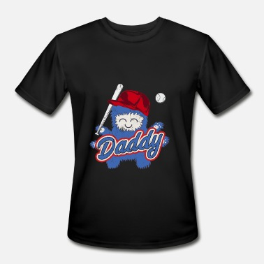 Fathers Day Baseball Baseball Father Fathers Day Men Daddy Dad - Men's Moisture Wicking Performance T-Shirt