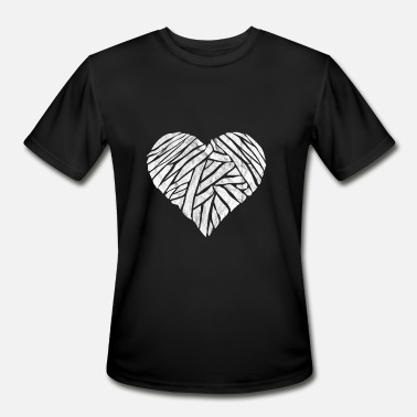 Mummy Heart Halloween Overlay Mummy Heart Halloween - Men's Moisture Wicking Performance T-Shirt