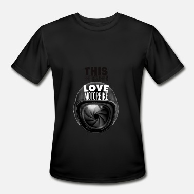 Love Camera Motorbike driver loves camera - Men's Moisture Wicking Performance T-Shirt