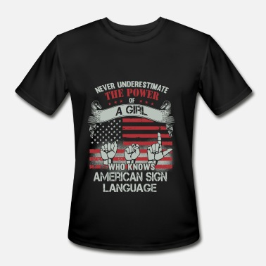 Batman Grandpa American sign language - power of a girl knows i - Men's Moisture Wicking Performance T-Shirt