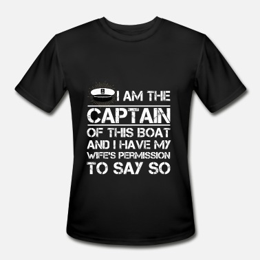Boating I am The Captain of This Boat Funny Boating Shirt - Men's Sport T-Shirt