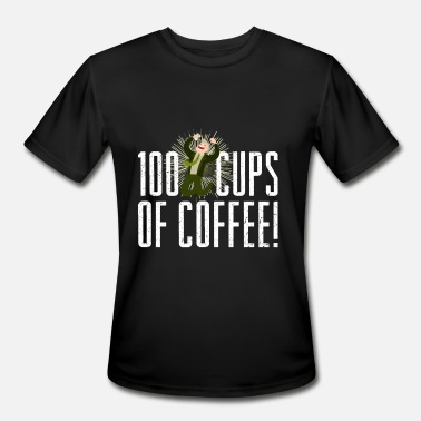 Camping Dad 100 Cups of Coffee - Men's Moisture Wicking Performance T-Shirt