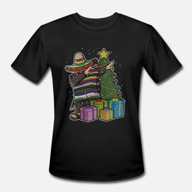 Mexican Dance Dabbing Mexican Christmas Dance - Men's Moisture Wicking Performance T-Shirt