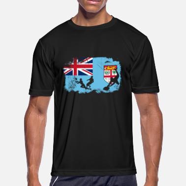 8aa855217c5b5c Fiji Fijian flag rugby players T-Shirt - Men's Sport T