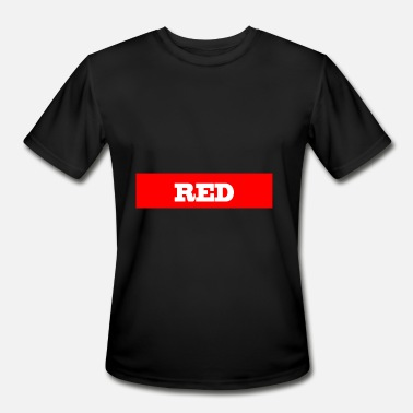 RED - Men's Moisture Wicking Performance T-Shirt