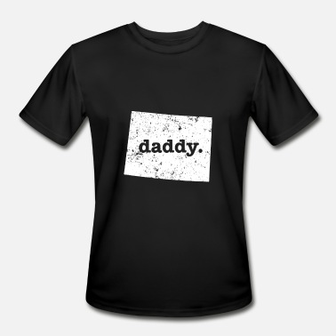 Funny Wyoming Funny Daddy Wyoming Daddy To Be - Men's Sport T-Shirt