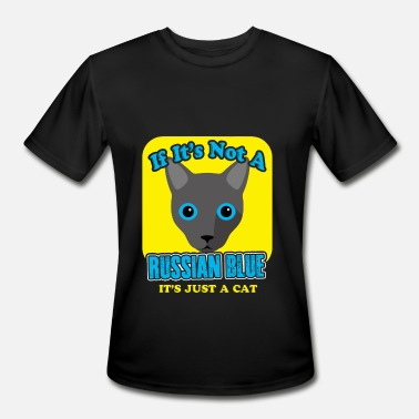 Russian Blue Cat Russian Blue Cat Shirt - Men's Moisture Wicking Performance T-Shirt