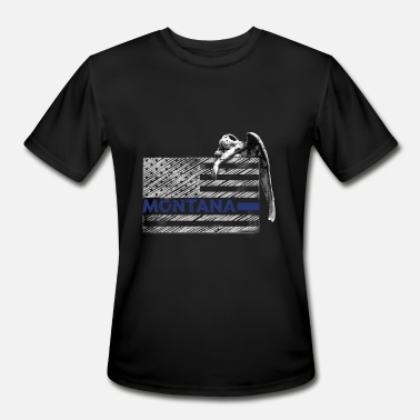Guardian Angel Symbol Montana Police State Police Guardian Angel - Men's Sport T-Shirt