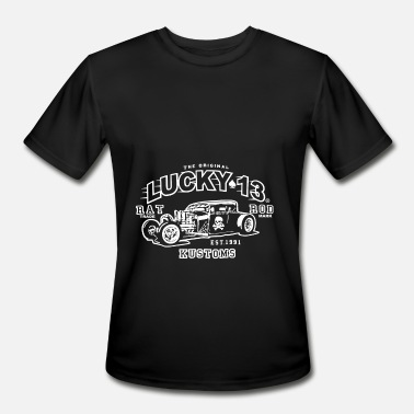 Lucky The driginal lucky 13 bat trade rod kustoms Hot Ro - Men's Moisture Wicking Performance T-Shirt