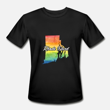 Home Rhode Island Water Color Shirt Rhode Island Home Shirt - Men's Moisture Wicking Performance T-Shirt