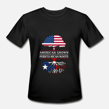 Ancestry American Grown with Puerto Rican Roots Puerto Rico Design - Men's Sport T-Shirt