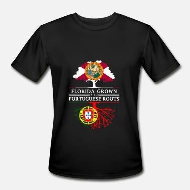 Portuguese Roots Florida Grown with Portuguese Roots Design - Men's Moisture Wicking Performance T-Shirt