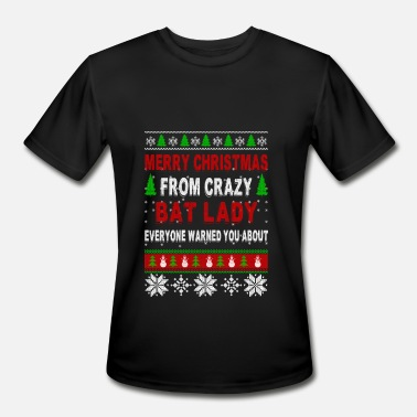 Bat Mugs Merry Christmas From Crazy Bat Lady - Men's Moisture Wicking Performance T-Shirt