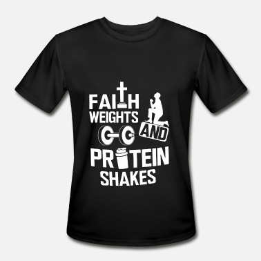 Herbalife Faith weights and protein shakes - Men's Sport T-Shirt