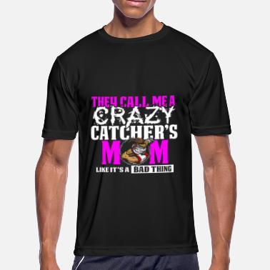 9637d61f Funny Crazy Baseball Catcher's Mom Design - Men's. Men's Sport T- Shirt. Funny Crazy Baseball Catcher's ...