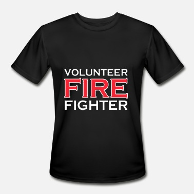 Canada Firefighter Volunteer Firefighter T Shirts - Men's Moisture Wicking Performance T-Shirt