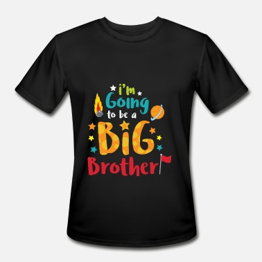 Promoted To Big Brother Big Brother Space Theme Light Promotion - Men's Moisture Wicking Performance T-Shirt