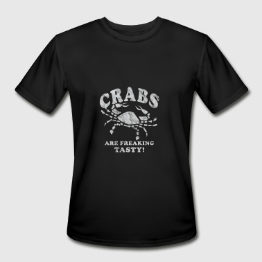 Funny Crabs Are Freaking Tasty Vintage Crab Boil Crabbing Shirt White - Men's Moisture Wicking Performance T-Shirt