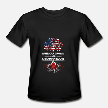 Canadian Grown American Roots American Grown with Canadian Roots - Men's Sport T-Shirt