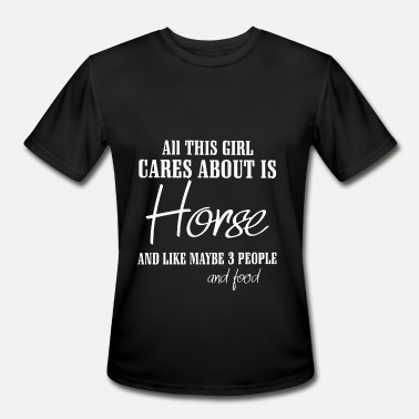 all this girl cares about is horse - Men's Sport T-Shirt