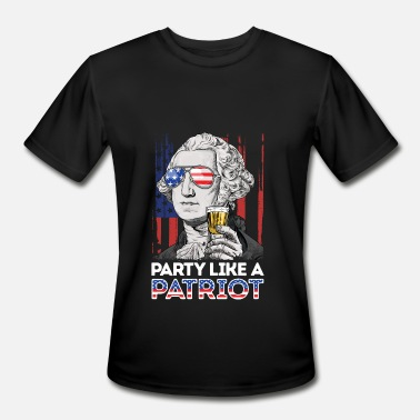 George Washington George Washington Party Like A Patriot 4th of - Men's Moisture Wicking Performance T-Shirt
