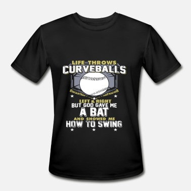 Evolution Of A Softball LEFT AND RIGHT - Men's Moisture Wicking Performance T-Shirt