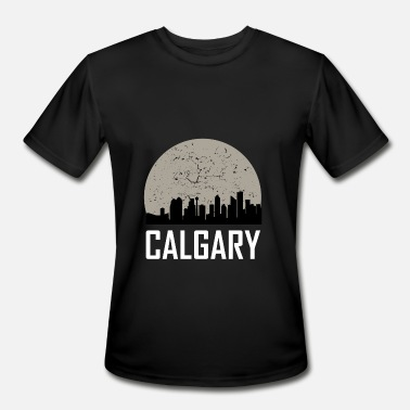 Calgary Calgary Full Moon Skyline - Men's Sport T-Shirt
