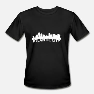 Atlantic City Nj Arc Skyline Of Atlantic City NJ - Men's Moisture Wicking Performance T-Shirt