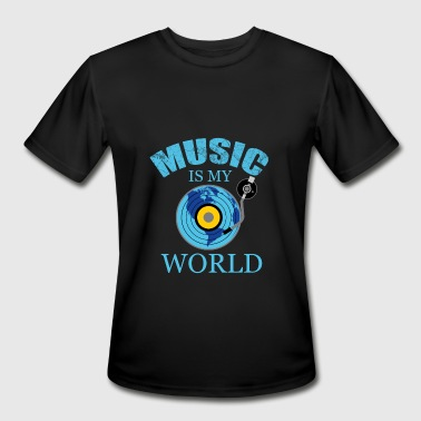 music music music disc - Men's Moisture Wicking Performance T-Shirt