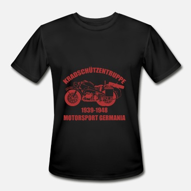 Germania Motorsport Germania - WK2 Biker Motorcycle - Men's Moisture Wicking Performance T-Shirt