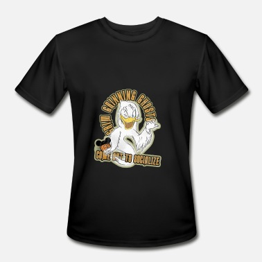 Grins Donald Duck Grin Grinning Ghosts - Men's Moisture Wicking Performance T-Shirt