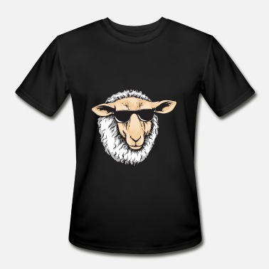 Herding Breed Cool Sheep With Sunglasses - Herd Farm Farmer - Men's Moisture Wicking Performance T-Shirt
