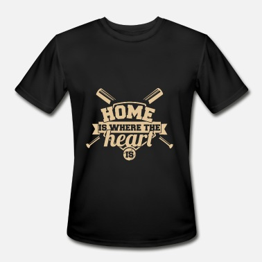 Home Is Where The Heart Is Baseball - Home is where the heart is - Men's Sport T-Shirt