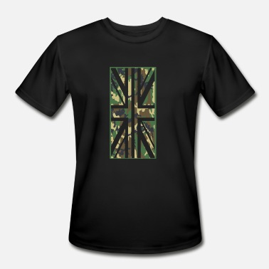 Union Jack Camo Flag - vertical - Men's Sport T-Shirt