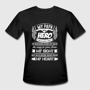 My Hero My Papa - Men's Moisture Wicking Performance T-Shirt